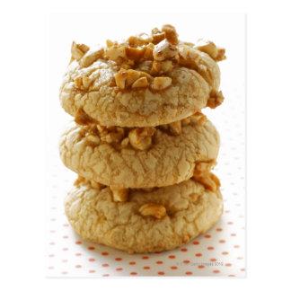 Peanut cookies in a pile postcard