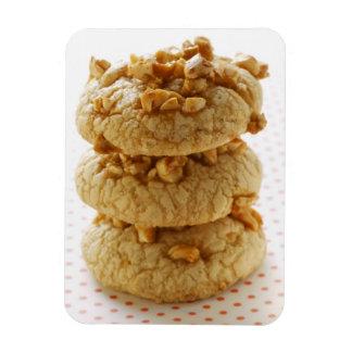 Peanut cookies in a pile rectangular photo magnet