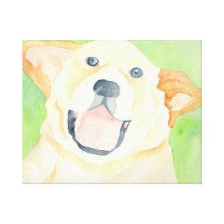 Peanut Cute Beagle Canvas Wrap