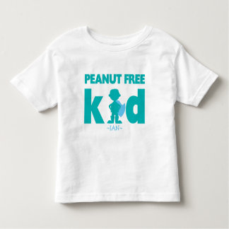 Peanut Free Allergy Alert Boy Superhero Shirt