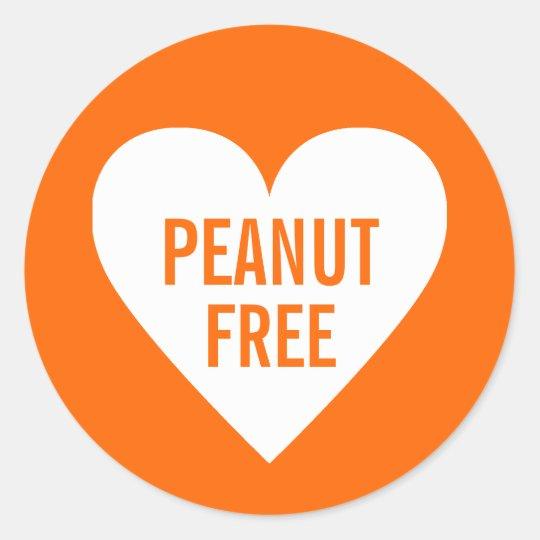 Peanut Free Allergy Safe Culinary Label