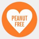 Peanut Free Allergy Safe Culinary Label Classic Round Sticker