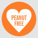 Peanut Free Allergy Safe Culinary Label Classic Round Sticker