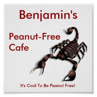 Peanut-free Cafe sign Poster