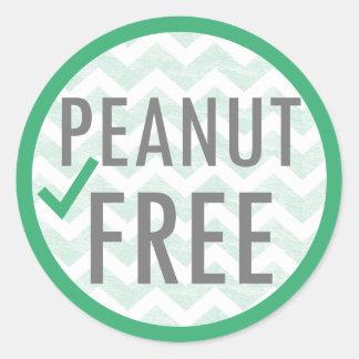Peanut Free Food Allergy Alert Stickers