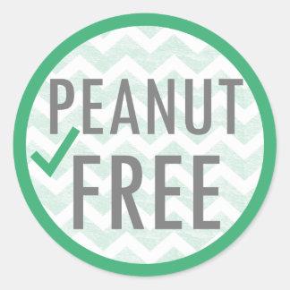 Peanut Free Green Allergen Free Classic Round Sticker