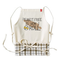 Peanut Free Is How I Roll Allergy Free Chef Bakers Zazzle HEART Apron