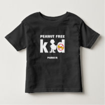 Peanut Free Kid Super Boy Food Allergy Alert Shirt