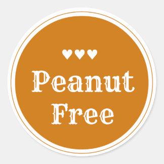 Peanut free sticker