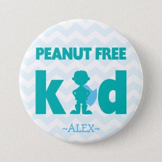 Peanut Free Superhero Boy Button