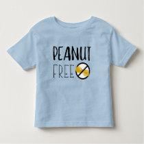 Peanut Free Symbol Peanut Allergy Alert Toddler T-shirt