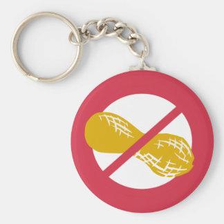 Peanut Free Symbol Red No Peanuts Allergy Kids Keychain