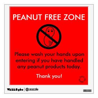 Peanut Free Zone Decal