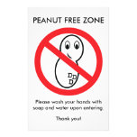 Peanut Free Zone Flyer