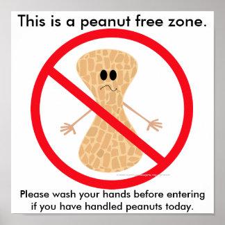 Peanut Free Zone Food Allergy Print