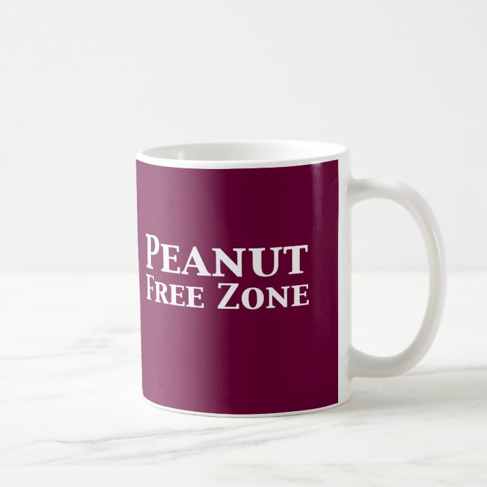 Peanut Free Zone Gifts Coffee Mug