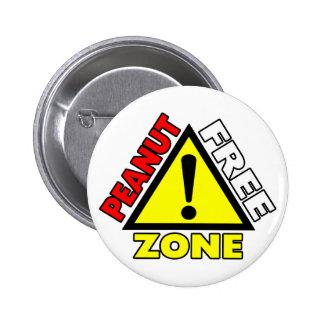 Peanut Free Zone (Peanut Allergy) 2 Inch Round Button