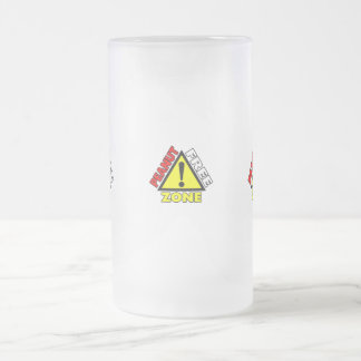 Peanut Free Zone (Peanut Allergy) Frosted Glass Beer Mug