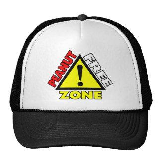 Peanut Free Zone Peanut Allergy Trucker Hat