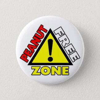 Peanut Free Zone (Peanut Allergy) Pinback Button