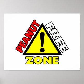 Peanut Free Zone (Peanut Allergy) Posters