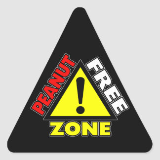 Peanut Free Zone (Peanut Allergy) Stickers