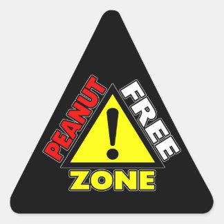 Peanut Free Zone (Peanut Allergy) Triangle Sticker