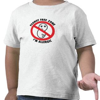 Peanut Free Zone Toddler T-Shirt T Shirts