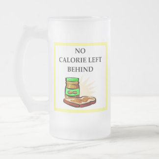 peanut frosted glass beer mug