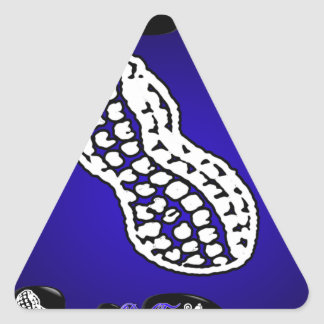 PEANUT GIFTS CUSTOMIZABLE PRODUCTS TRIANGLE STICKER