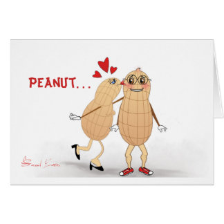 Peanut in Love - Funny greeting card. Card