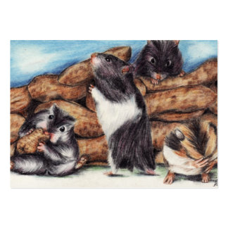 Peanut Masons (Hamster) ACEO Art Trading Cards Large Business Card