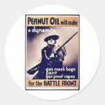 Peanut Oil Will Make Dynamite Classic Round Sticker