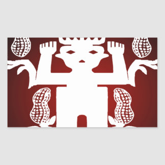 PEANUT. SEED SPIRITS CUSTOMIZABLE PRODUCTS RECTANGULAR STICKER