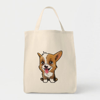 Peanut the corgi on to shopping bag! tote bag