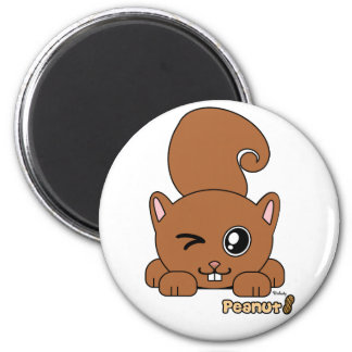 Peanut the Cute Squirell PudgiePet by Melody 2 Inch Round Magnet