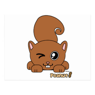 Peanut the Cute Squirell PudgiePet by Melody Postcard