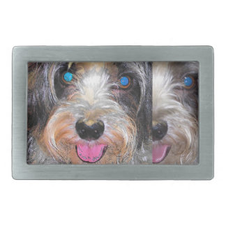 peanut the rescue dog rectangular belt buckle