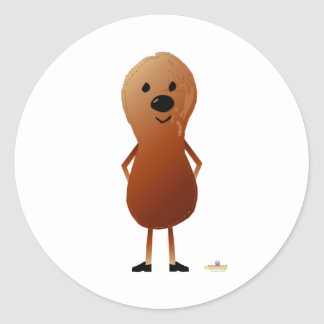 Peanut With Shoes Classic Round Sticker