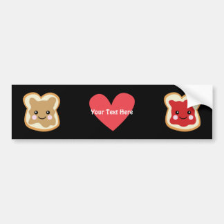 PeanutButter & Jelly (customizable0 Car Bumper Sticker