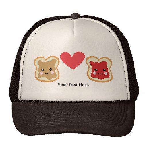 PeanutButter & Jelly (customizable) Hats
