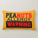 Peanuts Allergy Warning Pillow