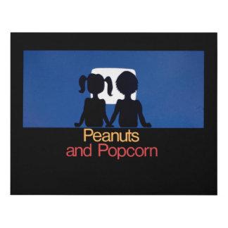 Peanuts and Popcorn - 1976 promo graphic Panel Wall Art