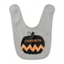 Peanuts | Charlie Brown Black Pumpkin Baby Bib