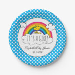 Peanuts | It's A Girl Baby Shower Paper Plate