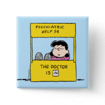 Peanuts | Lucy & the Doctor Is In Button