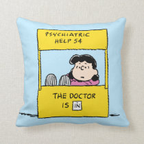 Peanuts | Lucy & the Doctor Is In Throw Pillow