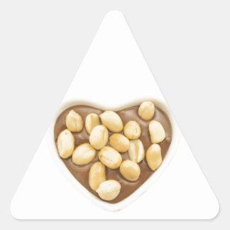 Peanuts on chocolate triangle sticker