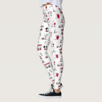 PEANUTS | Red & Black Pattern Leggings