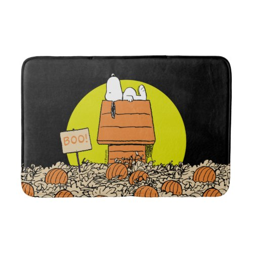 Peanuts   Snoopy Napping in the Pumpkin Patch Bath Mat